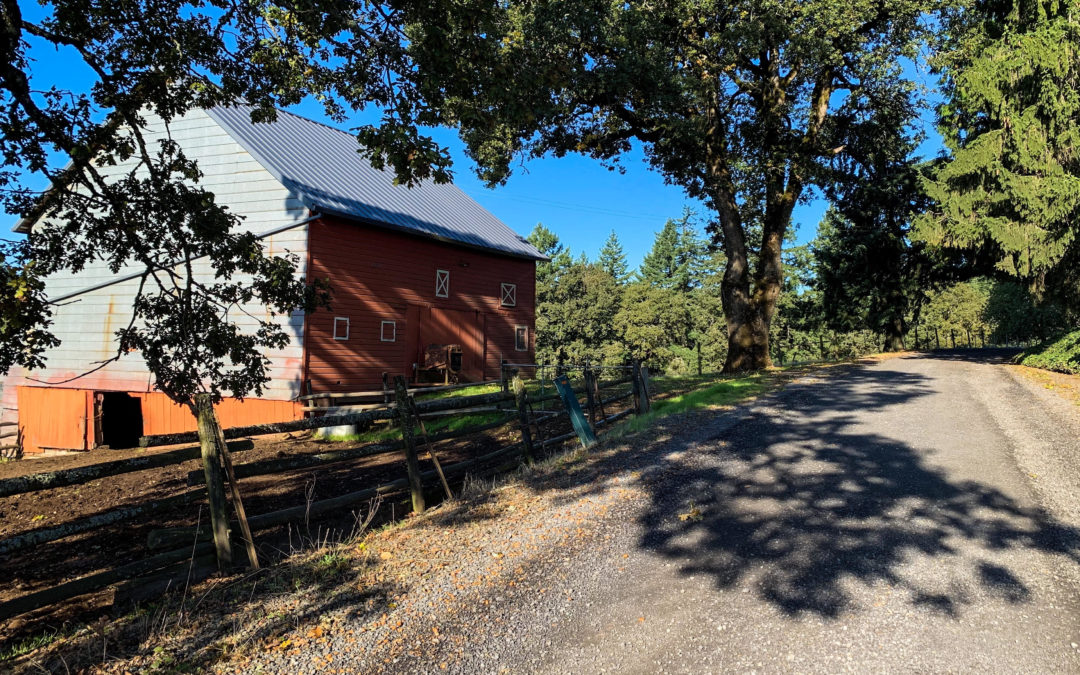Farm and barn in Yamhill County Oregon